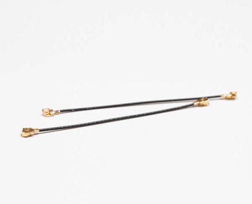 RF线材0.81黑色同轴线双头打i-pex二代