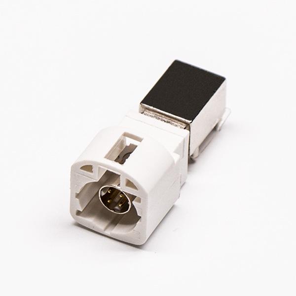 LVDS接口HSD公头910度插孔接PCB板