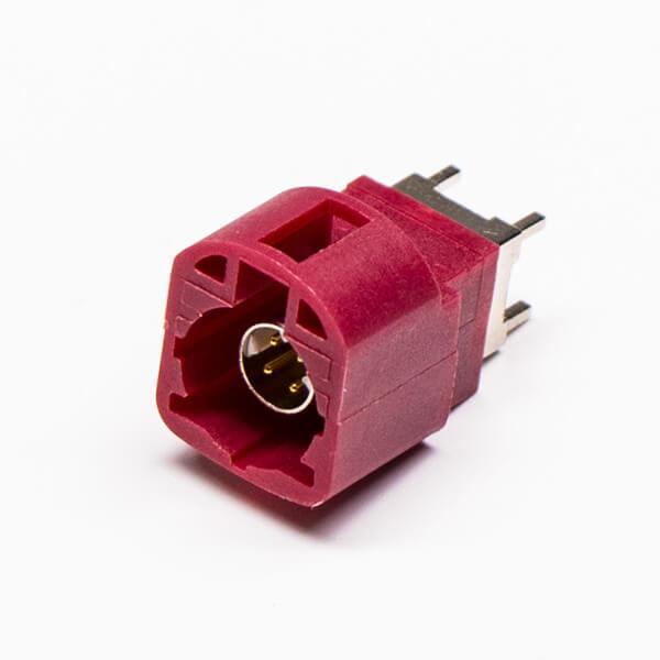 HSD LVDS座直式180度4P公头红色插PCB板
